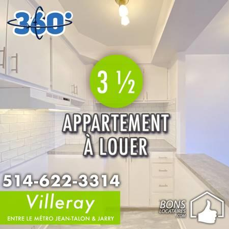 Apartment for rent 3 ½ in Villeray impeccable