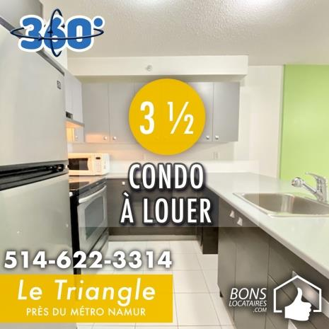 Appartement Condo à Louer Le Triangle 3